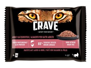 4 x 85g Crave Cat Pouches Trial Pack - 3 + 1 Free!* - Paté with Chicken & Turkey (16 x 85g)