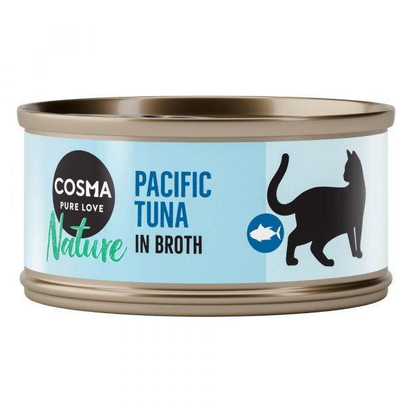 48x70g Tuna & Anchovy Saver Pack Cosma Nature Wet Cat Food