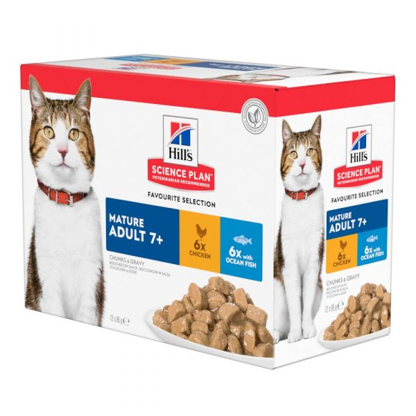 48x85g Chicken Mature Adult 7+ Hill's Science Plan Wet Cat Food