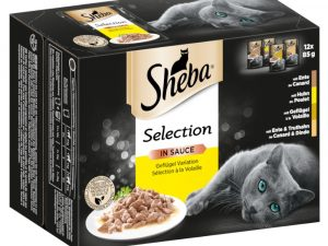 48x85g Succulent Collection in Gravy Select Slices Sheba Wet Cat Food