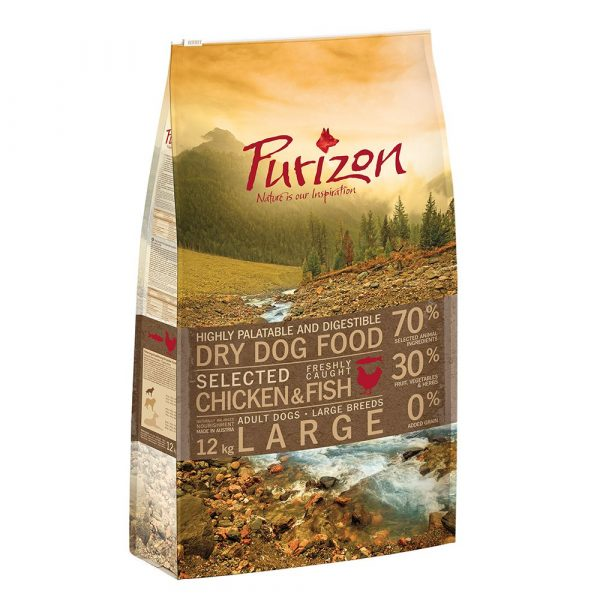 4kg Chicken & Fish Large Breed Grain-Free Adult Purizon Dry Dog Food