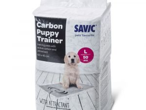 50 Large Savic Puppy Trainer Pads with Activated Charcoal