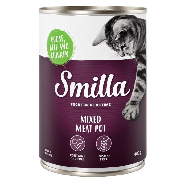 6x400g Mixed Meat Mixed Pack Smilla Wet Cat Food