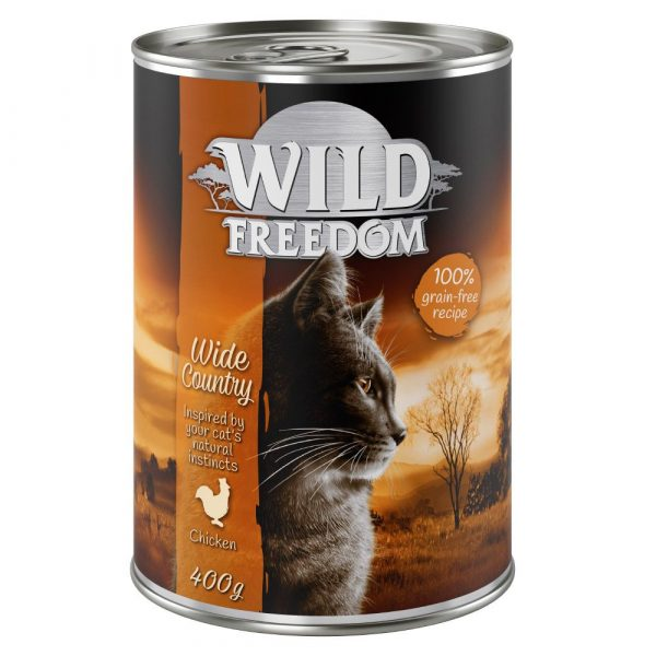6x400g Mixed Pack Wild Freedom Wet Cat Food