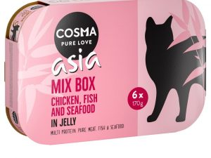 6x400g Mixed Trial Pack I in Jelly Cosma Thai Wet Cat Food