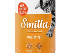 6x400g Tender Fish & Poultry Hearts Smilla Wet Cat Food