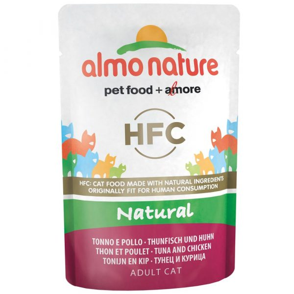 6x55g 3 Chicken Varieties Pouches Almo Nature Classic Wet Cat Food