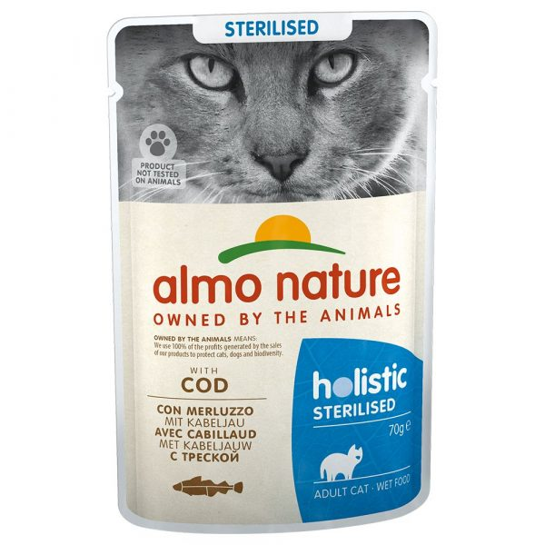 6x70g Chicken Sterilised Holistic Almo Nature Wet Cat Food
