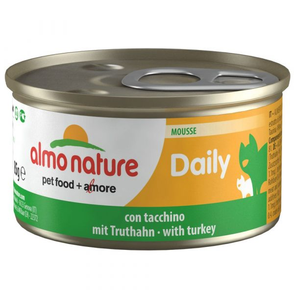 6x85g Mousse with Turkey Almo Nature Daily Menu Wet Cat Food