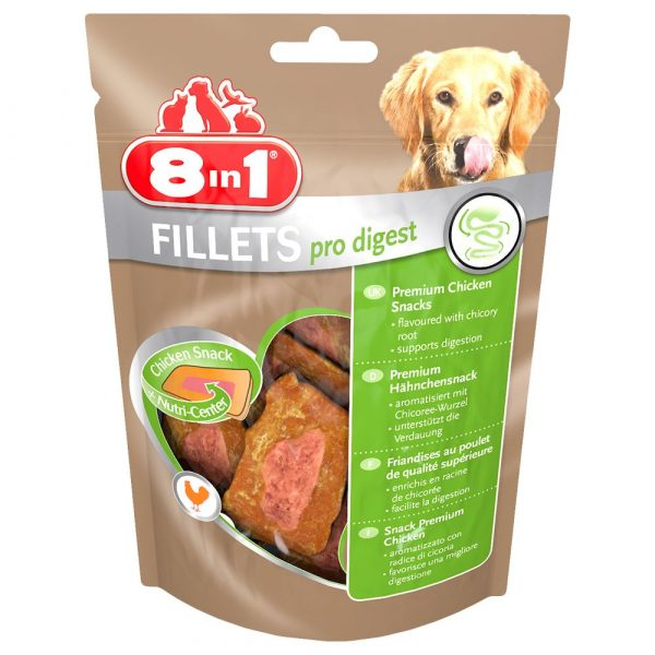 80g Small Pro Digest 8in1 Fillets Dog Treats
