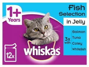 96x100g Fish & Meat Selection in Gravy Pouches 1+ Whiskas Wet Cat Food