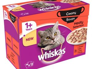 96x85g Classic Selection Creamy Soup Whiskas Wet Cat Food