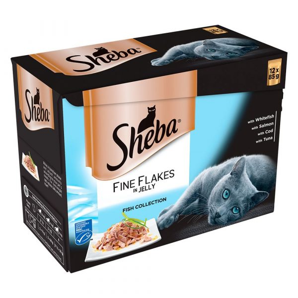 96x85g Poultry Collection in Gravy Sheba Pouches Wet Cat Food