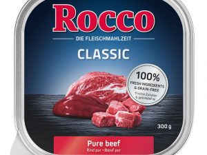 9x300g Beef with Green Tripe Classic Trays Rocco Wet Dog Food