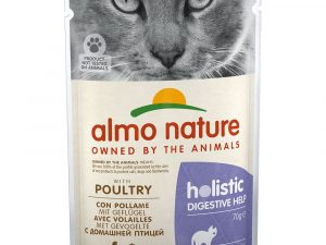 12x70g Poultry Digestive Help Holistic Almo Nature Wet Cat Food
