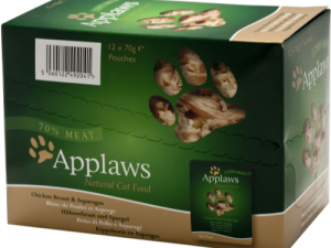Applaws Chicken & Asparagus Pouches Cat Food 70g x 12