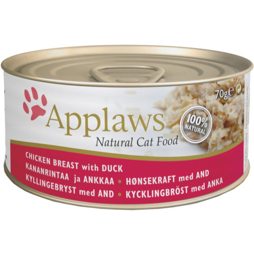 Applaws Meaty Tins Wet Cat Food 70g x 6 - Chicken with Duck