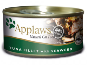 Applaws Tuna Fillet & Seaweed Can Adult Cat Food 70g x 24