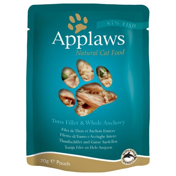 Applaws Tuna with Anchovy Pouches Wet Cat Food