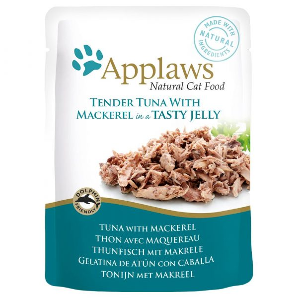 Applaws Tuna with Mackerel in Jelly Pouches Wet Cat Food