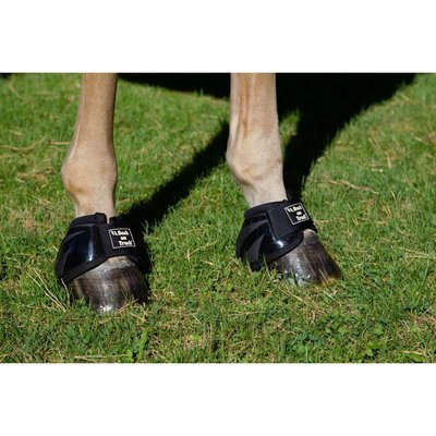 Back on Track Performance Equine / Horse Bell Boots - Black Small