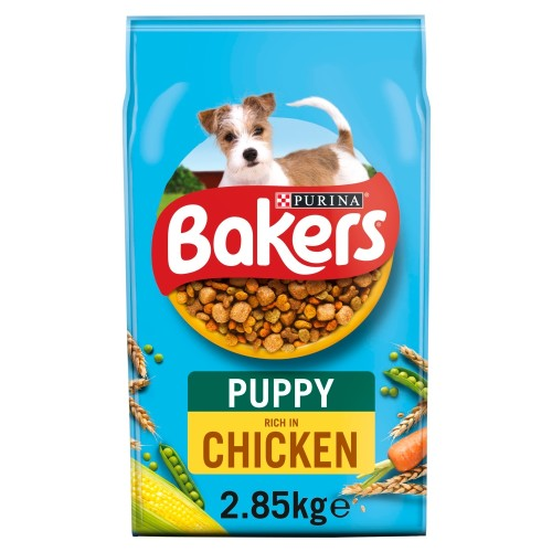 Bakers Chicken & Vegetable Puppy Food 2.85kg x 4