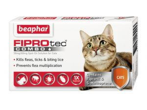 Beaphar FIPROtec Combo Flea Spot on For Cats 3 Pipettes