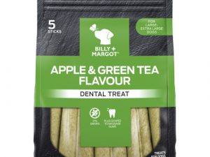 Billy & Margot Apple & Green Tea Dental Chews for Dogs 190g Large - Extra Large Dogs