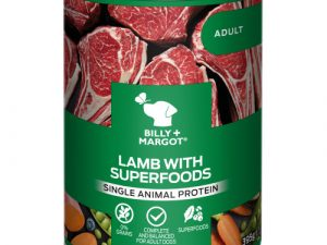 Billy & Margot Lamb with Superfoods Wet Adult Dog Food Tins 395g x 12