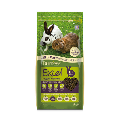 Burgess Excel Nuggets with Mint Adult Rabbit Food 4kg