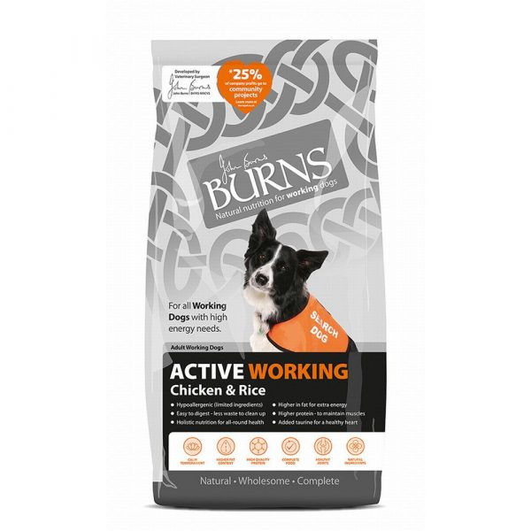 Burns Active Adult Chicken & Brown Rice Dry Dog Food