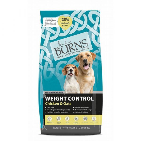 Burns Weight Control Chicken & Oats Adult & Senior Dry Dog Food