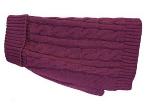 Buster & Beau Charlton Cable Knit Deep Berry Dog Jumper Small
