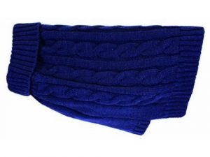 Buster & Beau Charlton Cable Knit Midnight Blue Dog Jumper Large