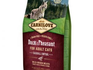 Carnilove Hairball Control Duck & Pheasant Adult Cat Food 6kg