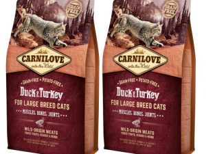 Carnilove Large Breed Duck & Turkey Adult Cat Food for Muscles, Bones & Joints 6kg x 2
