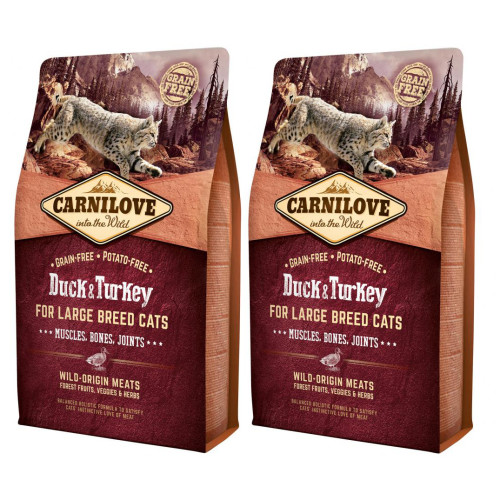 Carnilove Large Breed Duck & Turkey Adult Cat Food for Muscles