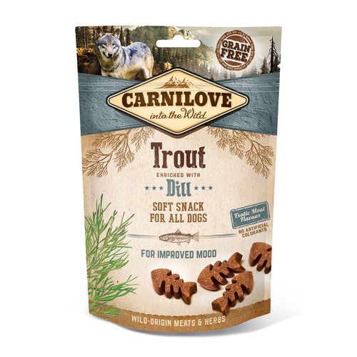 Carnilove Semi-moist Snack Trout with Dill Dog Treat x 10 SAVER PACK