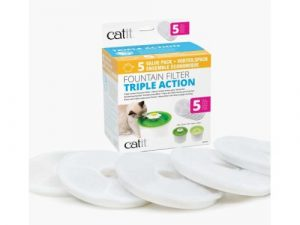 Catit Senses Triple Action Water Fountain Filters 5 Pack