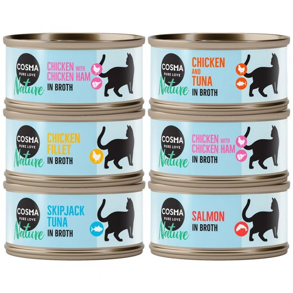 Cosma Nature Mixed Trial Pack Wet Cat Food
