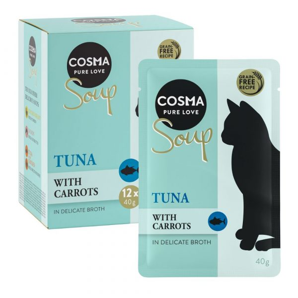 Cosma Soup Tuna with Carrots Wet Cat Food