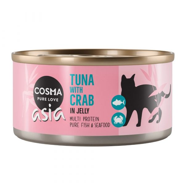 Cosma Thai Tuna with Crab Meat Saver Pack in Jelly Wet Cat Food