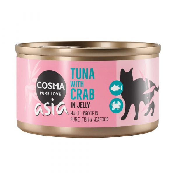 Cosma Wet Cat Food Thai Tuna with Crab Meat in Jelly