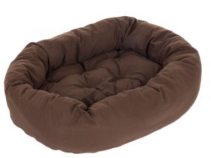 Cosy Mocca Dog Bed - Dark Brown 110x95x20cm (LxWxH)