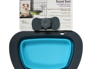 Dexas Popware Collapsible Kennel Bowl for Dogs Blue Large