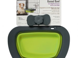 Dexas Popware Collapsible Kennel Bowl for Dogs Green Large