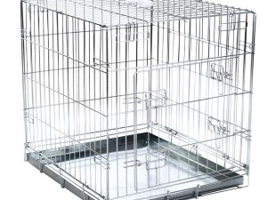 Double Door Transport Cage for Dogs, Size XXL: 118x78x84cm (LxWxH)