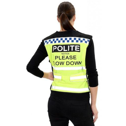 Equisafety Please Slow Down Polite Waistcoat Large
