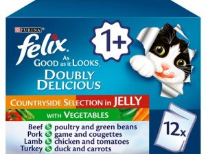 Felix As Good As It Looks Doubly Delicious Countryside Selection Wet Adult Cat Food 100g x 12