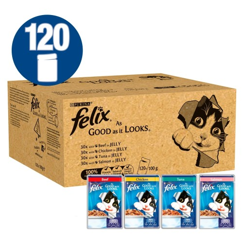 Felix As Good As It Looks Favourites in Jelly Adult Cat Food 100g x 120